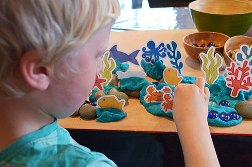 Under the Sea Playdough Activity (Photo by Kate from Picklebums at Nurture Store)