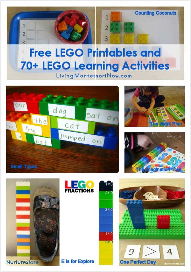 Free LEGO Printables and 70+ LEGO Learning Activities