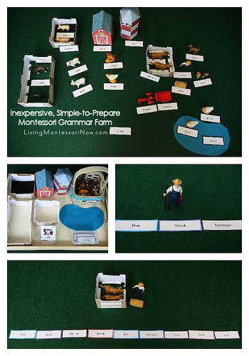 Inexpensive, Simple-to-Prepare Montessori Grammar Farm