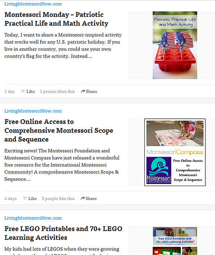Living Montessori Now Feed on Bloglovin'