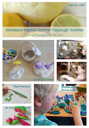 Montessori Monday – Montessori-Inspired Summer Playdough Activities