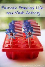 Montessori Monday – Patriotic Practical Life and Math Activity