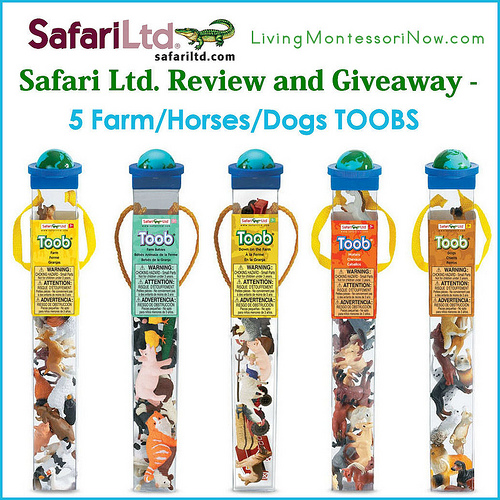 Safari Ltd. Review and Giveaway - 5 Farm-Horses-Dogs TOOBS