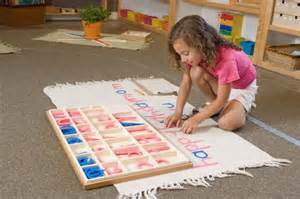 Student Working with the Moveable Alphabet (Photo from Montessori Compass)
