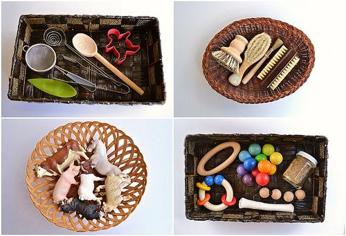 Themed Treasure Baskets (How We Montessori)
