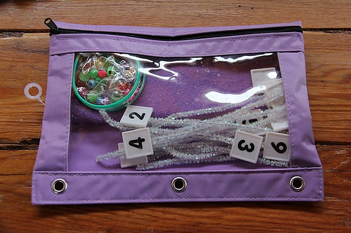 Kindergarten Activity Bag - Math (Photo from Chasing Cheerios)
