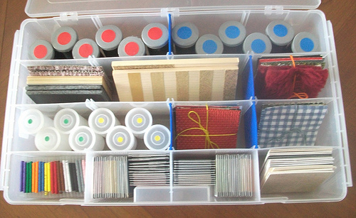 Sensorial Basics Tacklebox (Photo from Teaching from a Tacklebox)