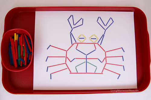 Inspiration Card Crab with Sticks Tray