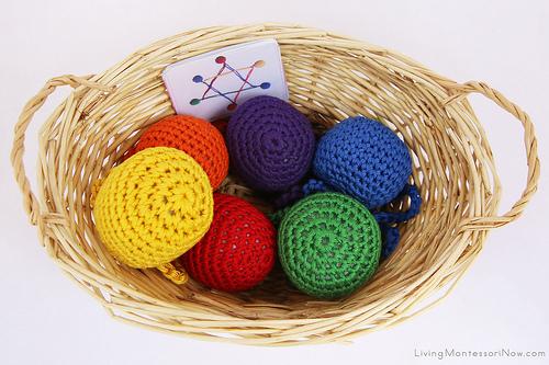 Yarn Balls and Shape Creation Cards Basket