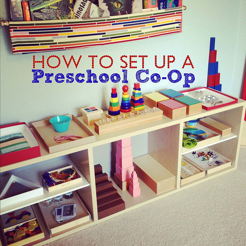 How to Set Up a Preschool Co-op (Photo from Montessori MOMents)