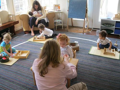 Montessori playgroup (photo from Montessori Messy)