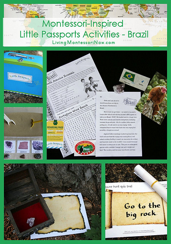 Montessori-Inspired Little Passports Activities - Brazil