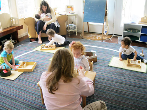 Montessori playgroup (photo from Montessori Messy)