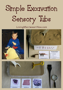Simple Excavation Sensory Tubs