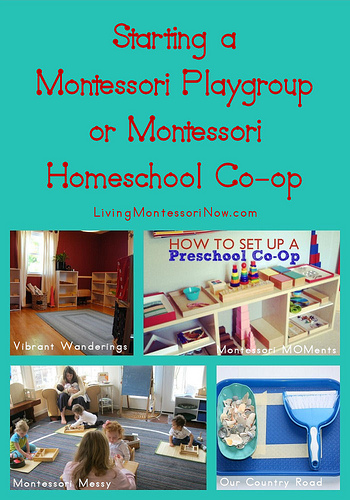 Montessori Monday – Starting a Montessori Playgroup or Montessori Homeschool Co-op
