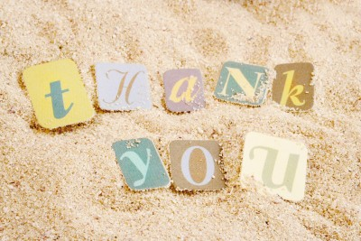Thank you in the sand 6196636_s