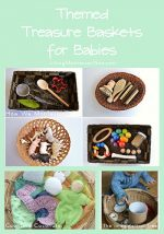 Montessori Monday – Themed Treasure Baskets for Babies and Toddlers