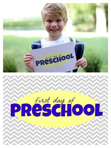 First Day of School Printable (Image from I Can Teach My Child)