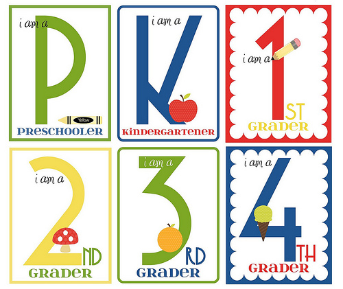 Free Back to School Printables (Image from Sugar Tot Designs)