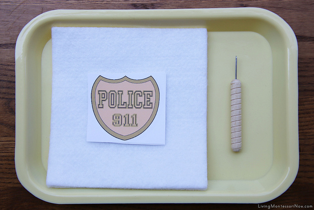 Police Badge Punching Activity