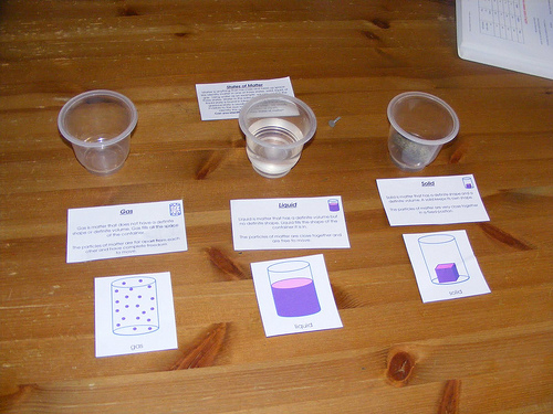 States of Matter Work (Photo from Homeschool Escapade)
