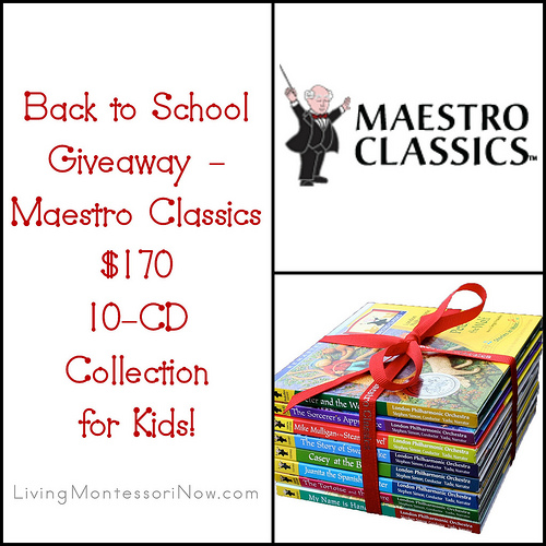 Back to School Giveaway – Maestro Classics $170 10-CD Collection for Kids!