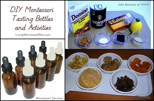 DIY Montessori Tasting Bottles and Activities
