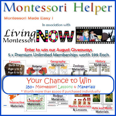 Giveaway – 5 Montessori Helper Premium Unlimited Memberships (ARV $99 each)!