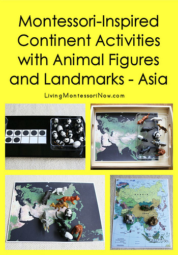 Montessori-Inspired Continent Activities with Animal Figures and Landmarks - Asia