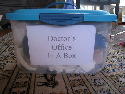 Doctor's Office in a Box (Photo from Chasing Cheerios)