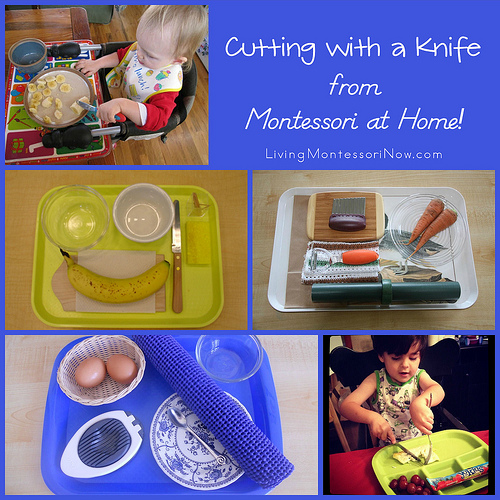 Cutting with a Knife from Montessori at Home