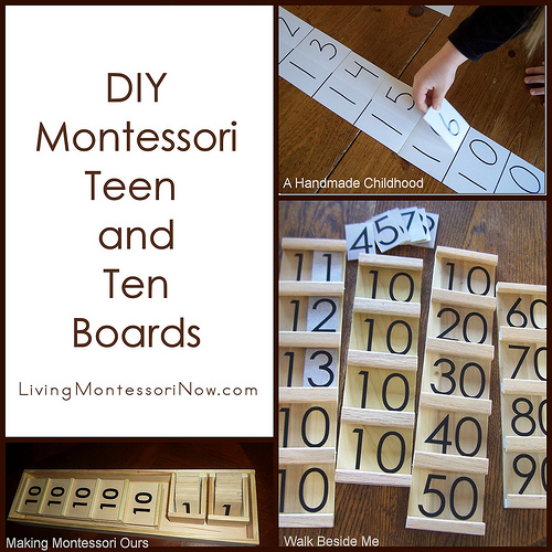 DIY Montessori Teen and Ten Boards