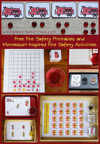 Free Fire Safety Printables and Montessori-Inspired Fire Safety Activities