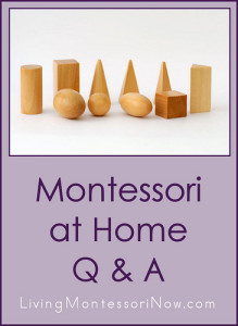 Montessori at Home Q & A