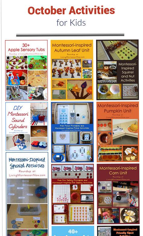 October Calendar Ideas For Preschool : October themed activities for kids livingmontessorinow