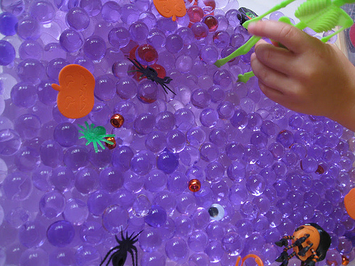 Halloween Sensory Bin (Photo from Sugar Aunts)