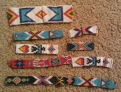 Native American Seed Bead Loom Strips (Photo from Hands On Homeschooler)