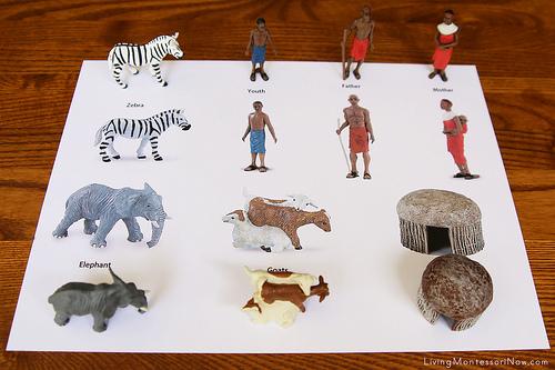 African Village Matching Using Safari Ltd TOOB Key