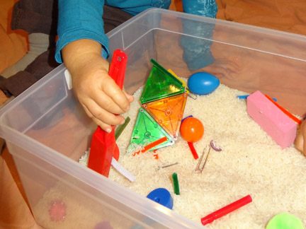 Magnet Sensory Bin (Photo from Gift of Curiosity)