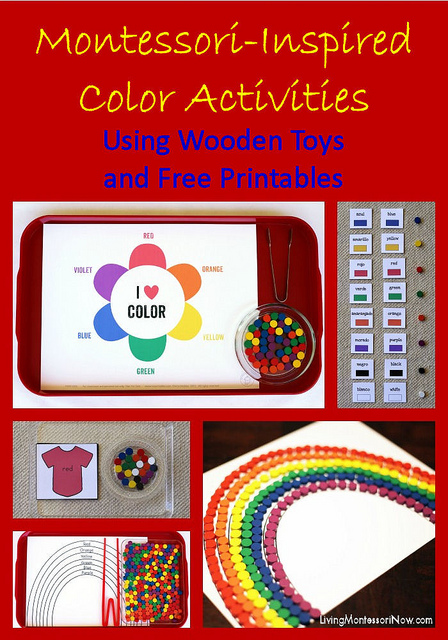 Montessori-Inspired Color Activities Using Wooden Toys and Free Printables