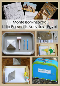 Montessori-Inspired Little Passports Activities - Egypt