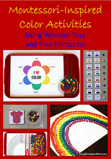 Montessori-Inspired ColorActivities Using Wooden Toys and Free Printables