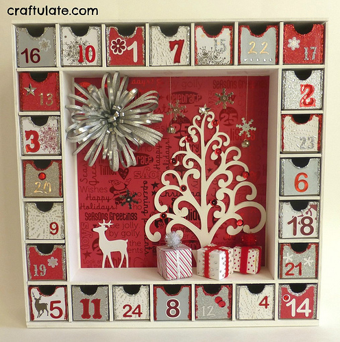 3-D Advent Calendar (Photo from Craftulate)
