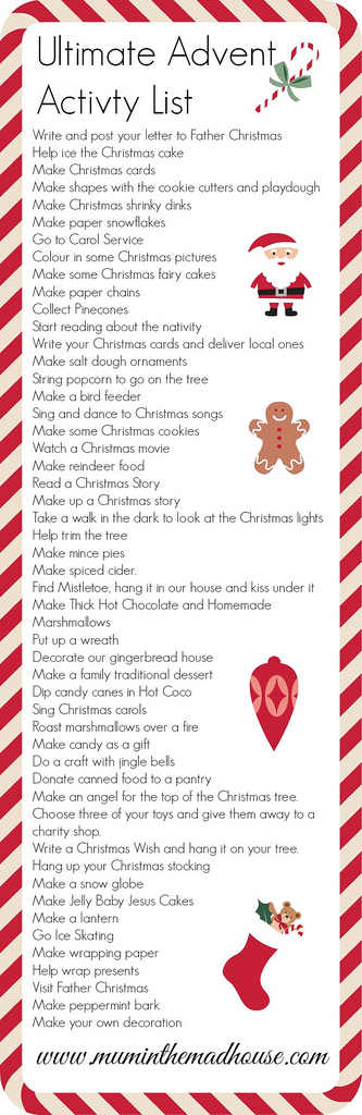 Ultimate Advent Activity List (Photo from The Mad House)
