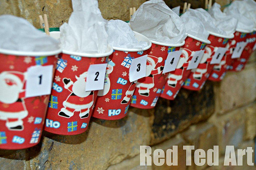 Super Simple Advent Calendar (Photo from Red Ted Art)