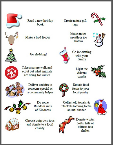 graphic about Christmas Countdown Printable identify Xmas Countdown Actions with A good deal of Totally free Printables