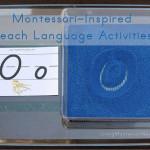 Montessori-Inspired Beach Language Activities at PreK + K Sharing