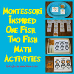 Montessori-Inspired One Fish, Two Fish Math Activities at PreK + K Sharing