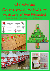 Christmas Countdown Activities with Lots of Free Printables