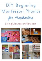 Montessori Monday – DIY Beginning Montessori Phonics for Preschoolers